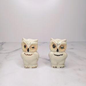 Vintage winking owl salt & pepper shakers